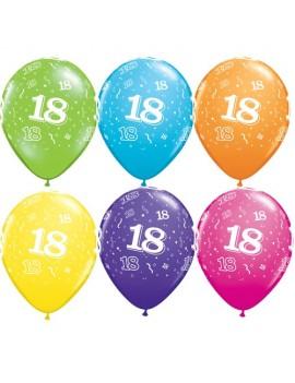 Palloncini Numero 18 Multicolor