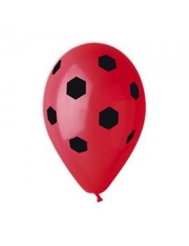 Palloncini in Lattice Calcio Rosso e Nero (10pz)