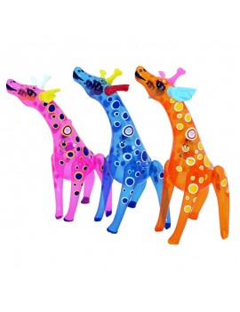 Gonfiabile Giraffa Trasparente Pois