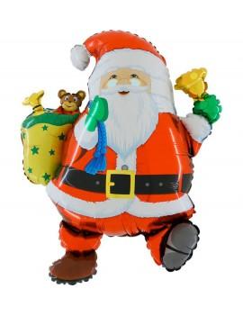 Palloncino Babbo Natale con Sacco e Campanella