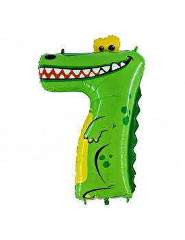 Animaloon Coccodrillo Numero 7 (100cm)
