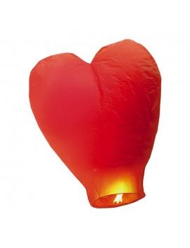 Lanterna Dei Cieli Cuore Rosso