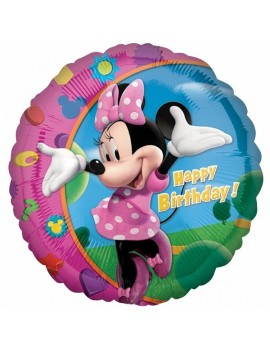 Palloncino Minnie Mouse Happy Birthday