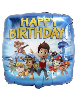 "Palloncino Paw Patrol 18"" Happy Birthday"