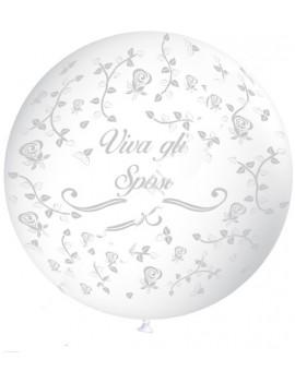 Pallone Gigante Trasparente Viva gli Sposi (1 mt)