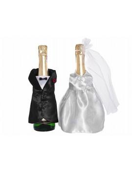 Copri Bottiglia Champagne Sposo e Sposa