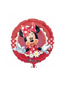 Palloncino Minnie Mouse Rosso Pois