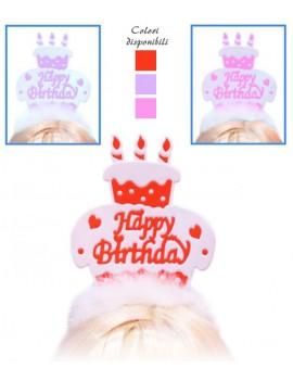 Cerchietto Con Torta Happy Birthday