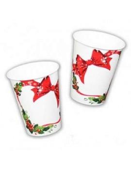 Bicchieri Fiocco di Natale (10 pz)