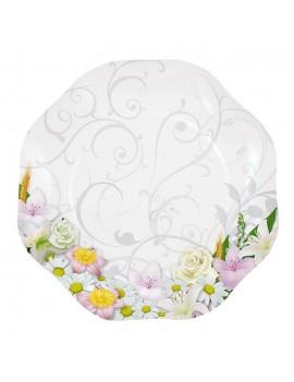 Piatti Grandi di Carta Bouquet Floreale (10 pz)