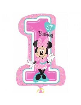 Palloncino Numerone 1° Compleanno Minnie Mouse