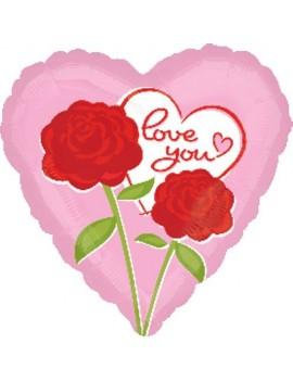 Palloncino Love You con Rose