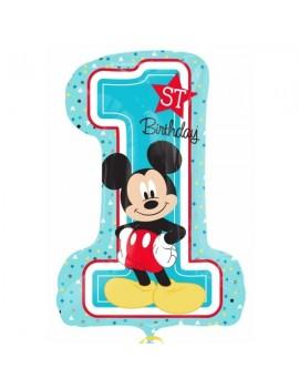 Palloncino Numerone 1° Compleanno Mickey Mouse
