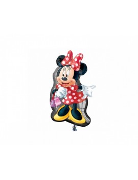 Palloncino Minnie Mouse Rosso Pois 19x32""