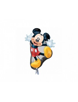 Palloncino Mickey Mouse Rosso Pois Supershape