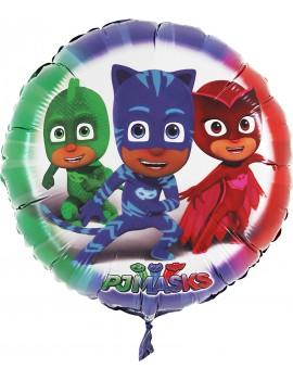 "Palloncino Tondo 24"" Pj Masks - Super Pigiamini"