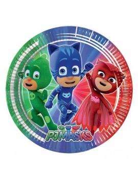Piatti Grandi di Carta Pj Masks - Super Pigiamini (8 pz)