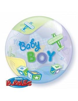 """Palloncino Mylar Bubble Baby Boy da 22"""""""