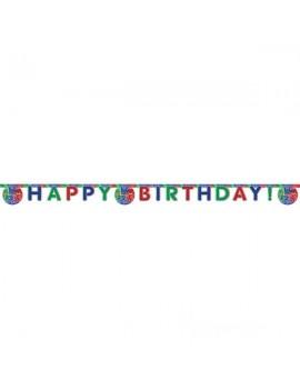 Festone Happy Birthday Pj Masks - Super Pigiamini