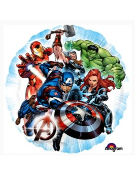 "Palloncino Avengers Tondo Animato 18"""