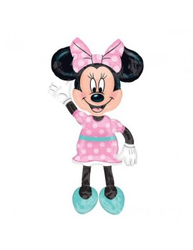 Palloncino Minnie AirWalkers Rosa a Pois (137cm)