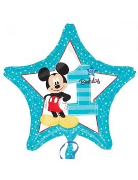 Palloncino Mickey Mouse Stella Primo Compleanno