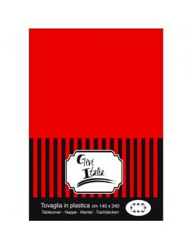 Tovaglia Rossa in PVC (140x240 cm)