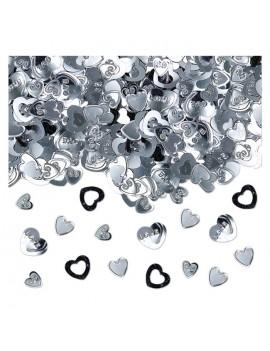 Confetti Decorativi Cuori Argento