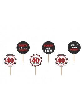 Picks Toppers 40 Anni (6 pz)