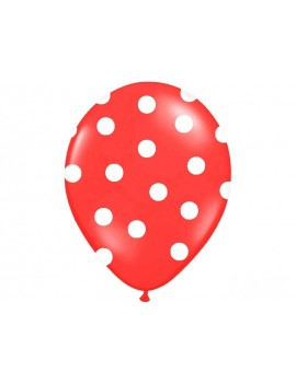 """Palloncini 14"""" Rossi a Pois Bianchi"""