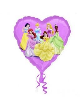 Palloncino Cuore Principesse Disney Viola