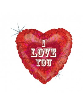 "Palloncino Olografico I Love You 18"""