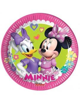 Piattini di Carta Minnie Happy Helpers da 20 cm (8pz)
