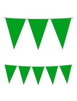 Festone Bandierina in Plastica Verde