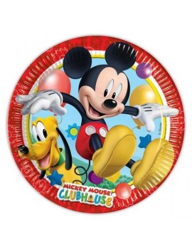 Piattini di Carta Mickey Mouse da 20cm