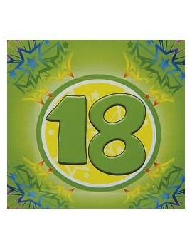 Tovaglioli di Carta 18 anni verdi 33x33