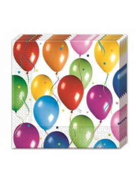 Tovaglioli di Carta Balloon Multicolor 33x33