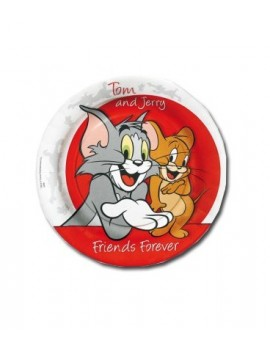 Piatti di Carta Tom e Jerry da 23 cm