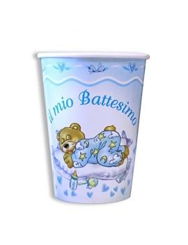 Bicchieri il Mio Battesimo Orsetto Celesti (10 pz)