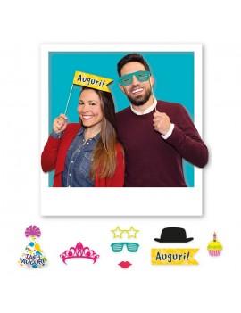 Maxi Photo Boot Buon Compleanno (8 pz)