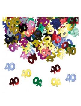 Confetti Decorativi Numero 40 Multicolor