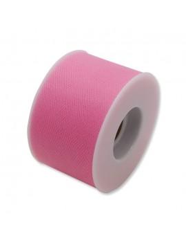 Tulle 5 cm x 50 mt colore Rosa Caldo