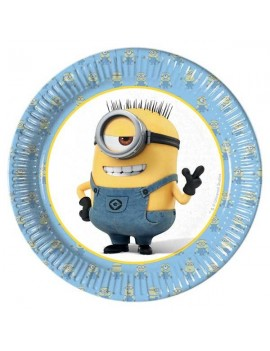 Piattinidi Carta Minions Lovely da 20 cm (8 pz)