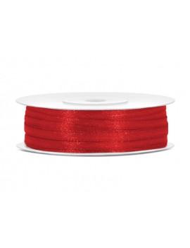 Nastrino Sottile di Stoffa Rosso 3 mm x 50 mt