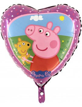 Palloncino Cuore Peppa Pig in Mylar