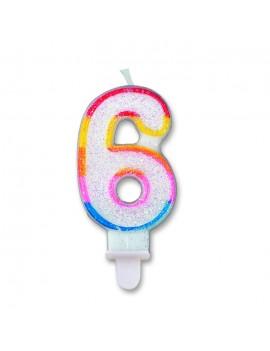 Candelina Numero 6 (Sweet)