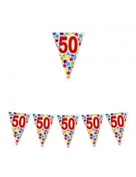 Festone Bandierina Numero 50