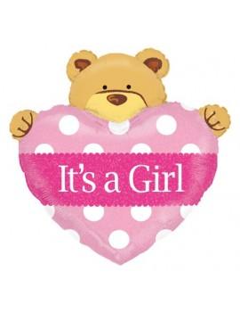 Palloncino Orsetto It's a Girl