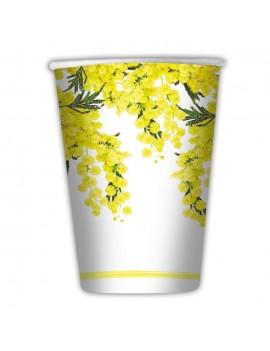Bicchieri Floreali Mimosa (10 pz)
