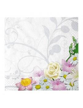 Tovaglioli 25x25 Tema Floreale (20 pz)